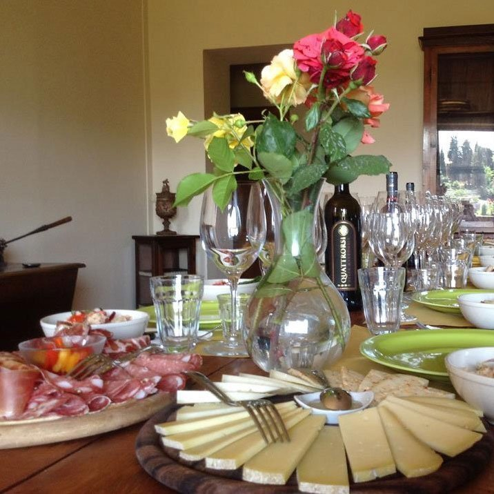 The cheese selection of our Tuscan lunch