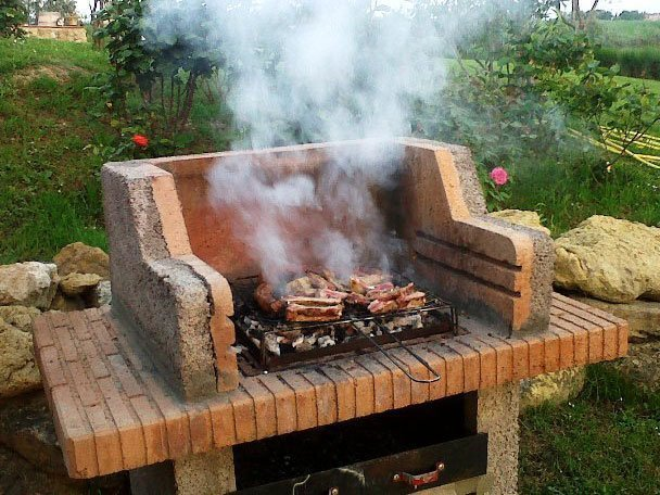 A barbecue of organic meat