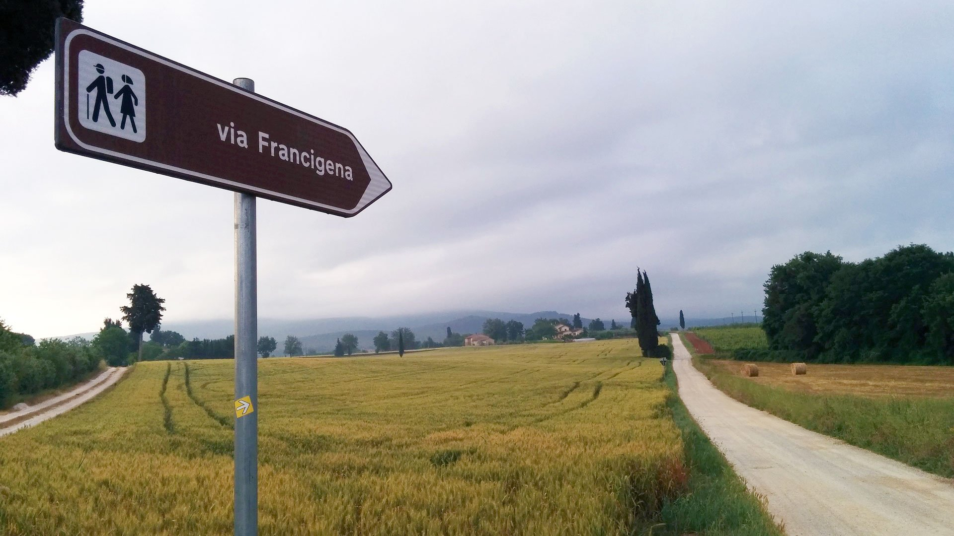 Via Francigena Tuscany Italy
