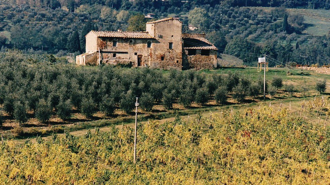 A typical tuscan farmstead before renovations