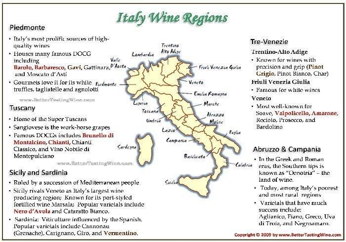 Italy Wine Map resize - La Marronaia -