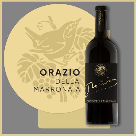 ORAZIO BIODYNAMIC ITALIAN RED WINE - La Marronaia -